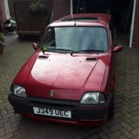 1991 Rover Metro GTi 16v Special Edition Firestone Red, 45,000 miles 12 months MOT, taxed to August.