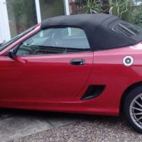 MG TF 2004 1.6 litre Sports Car in Solar Red. Only 45,100 miles.